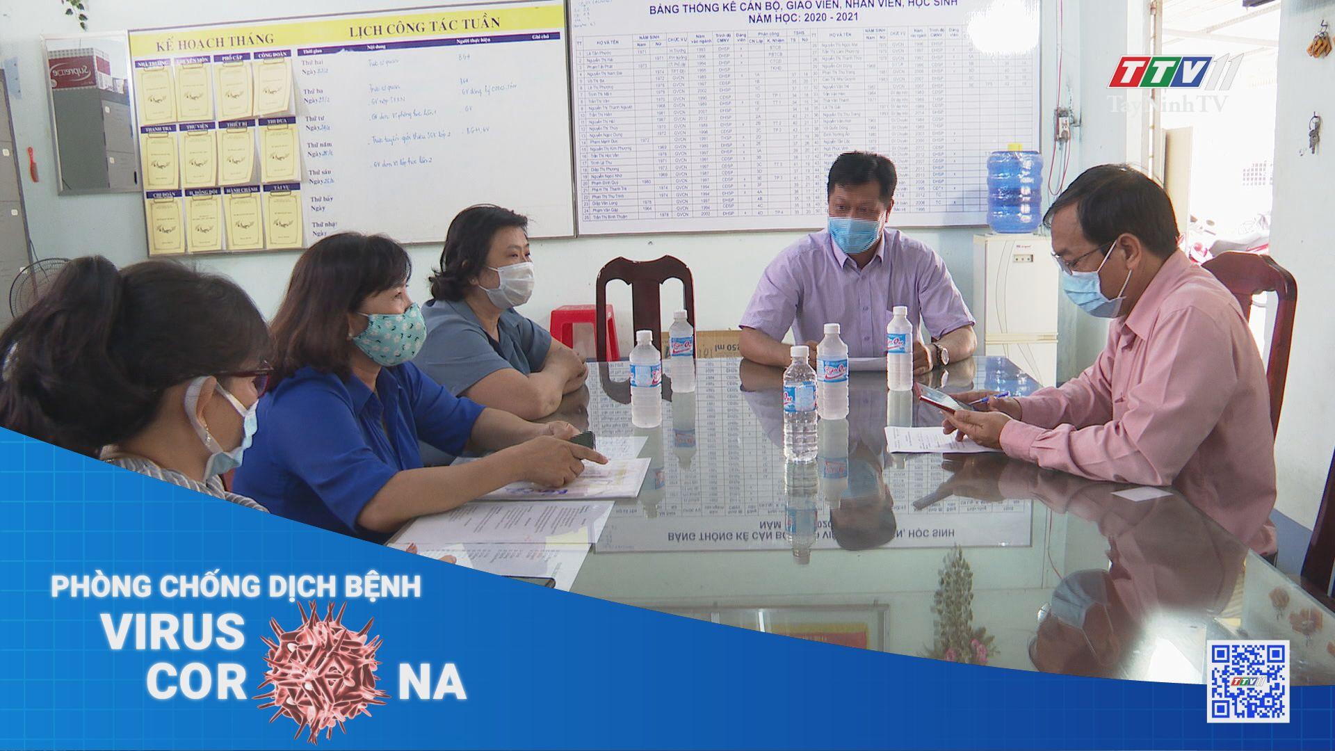 Sẵn sàng đón học sinh trở lại trường | THÔNG TIN DỊCH CÚM COVID-19 | TayNinhTV