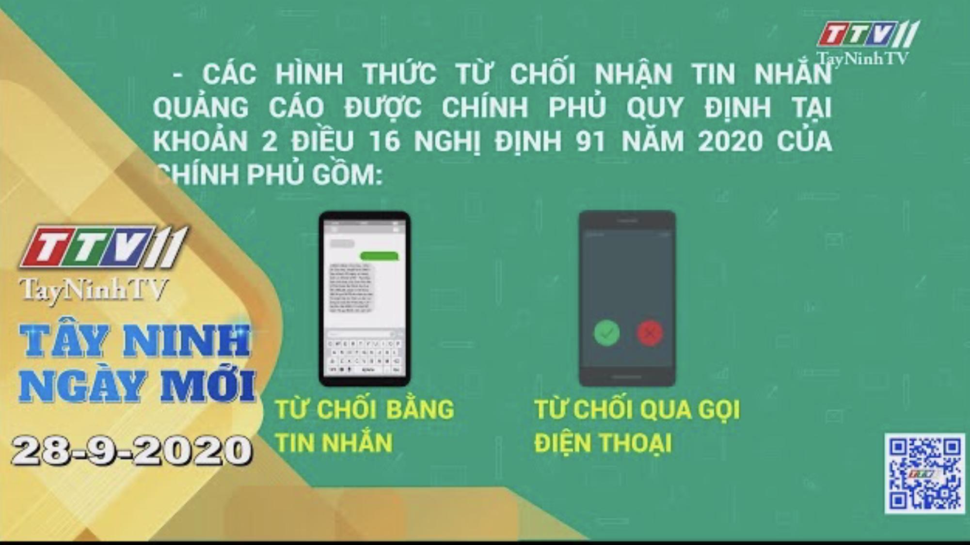Tây Ninh Ngày Mới 28-9-2020 | Tin tức hôm nay | TayNinhTV