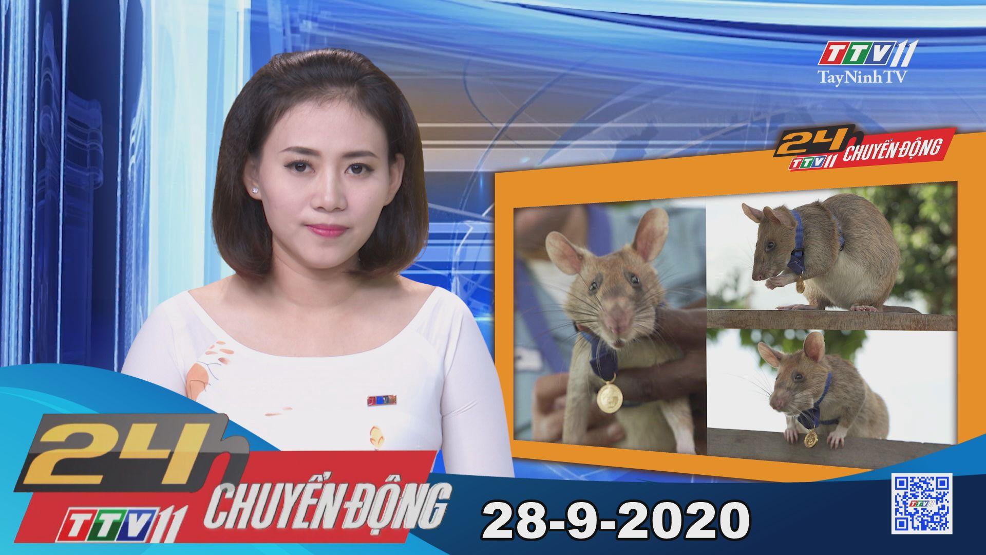 24h Chuyển động 28-9-2020 | Tin tức hôm nay | TayNinhTV