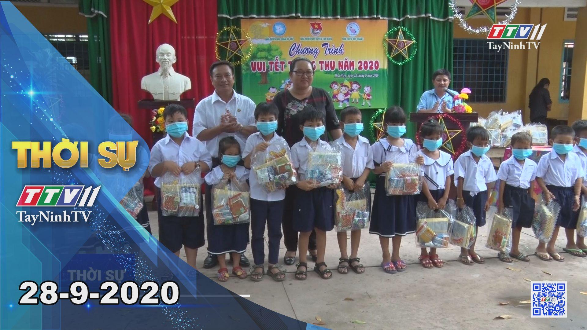 Thời sự Tây Ninh 28-9-2020 | Tin tức hôm nay | TayNinhTV