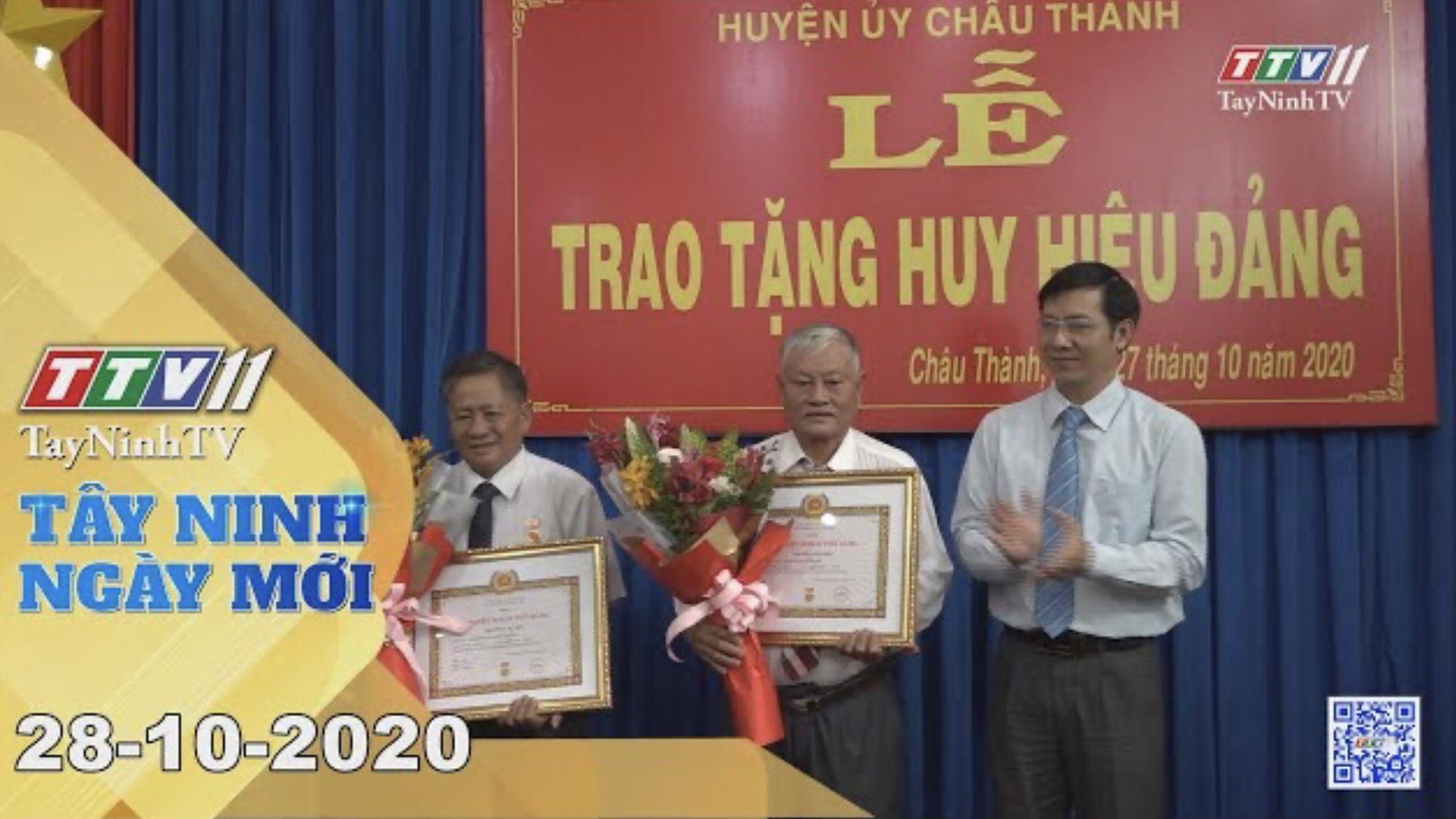 Tây Ninh Ngày Mới 28-10-2020 | Tin tức hôm nay | TayNinhTV