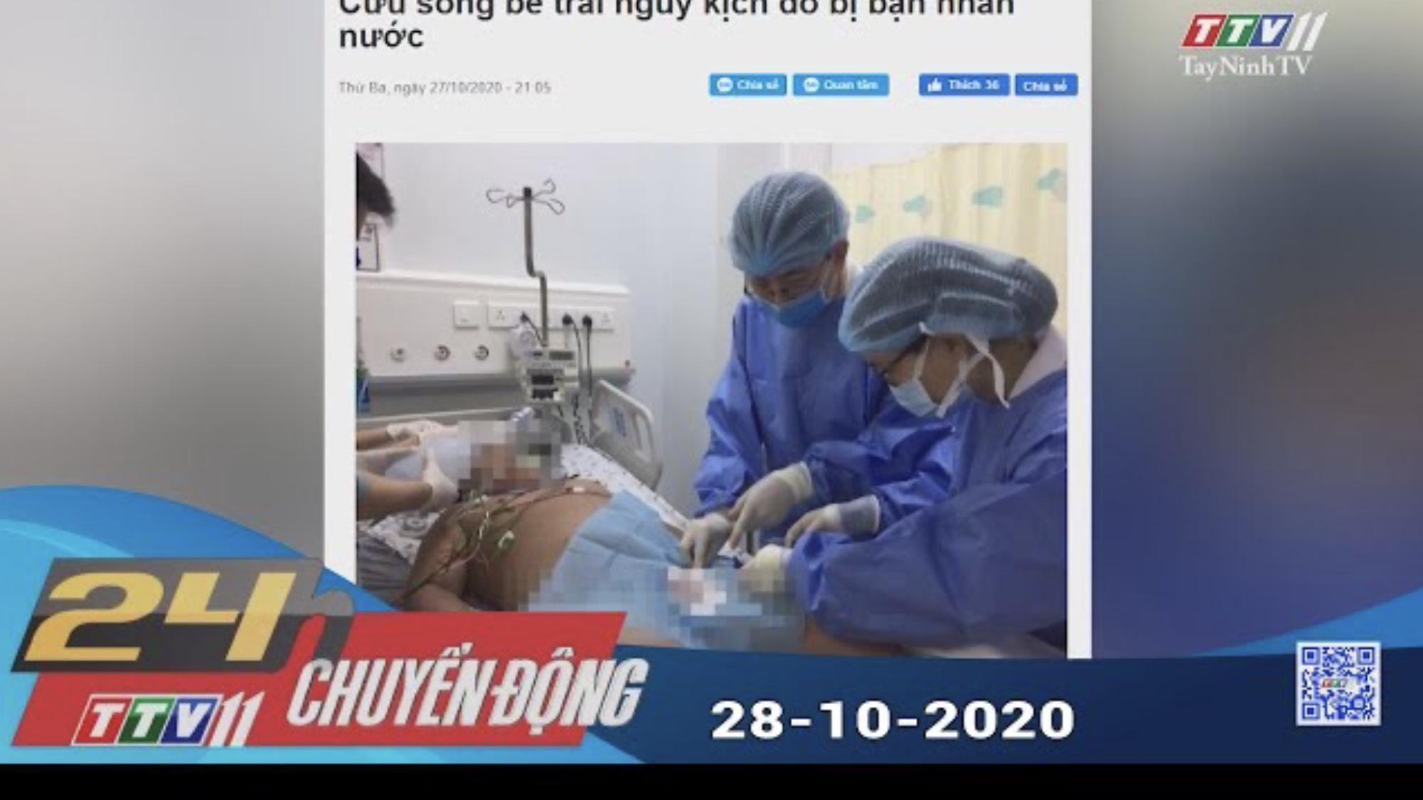 24h Chuyển động 28-10-2020 | Tin tức hôm nay | TayNinhTV