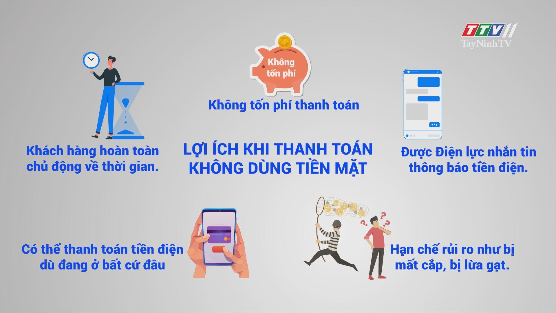 Tiện ích khi thanh toán tiền điện không dùng tiền mặt   ĐIỆN VÀ CUỘC SỐNG   TayNinhTV