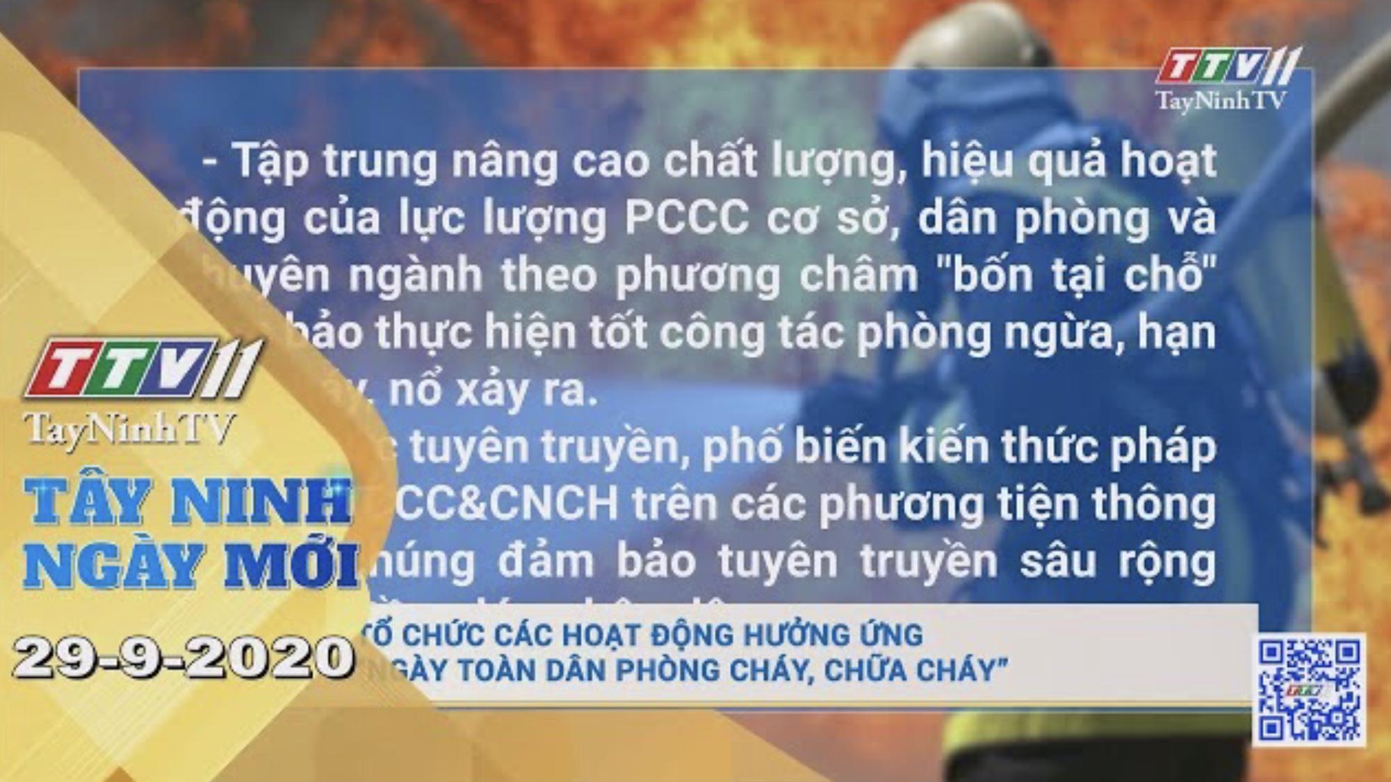 Tây Ninh Ngày Mới 29-9-2020 | Tin tức hôm nay | TayNinhTV