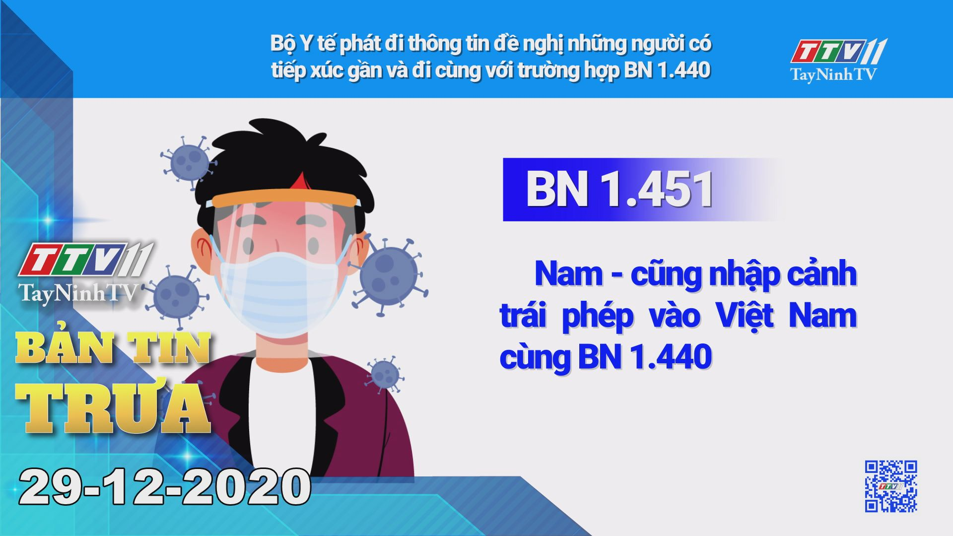 Bản tin trưa 29-12-2020 | Tin tức hôm nay | TayNinhTV