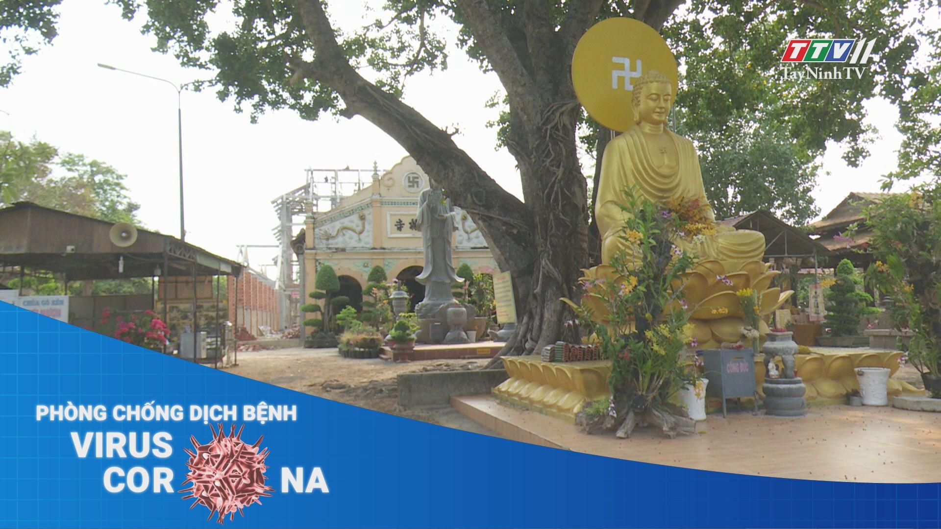 Các tôn giáo tại Tây Ninh tạm dừng sinh hoạt lễ hội | THÔNG TIN DỊCH CÚM COVID-19 | TayNinhTV