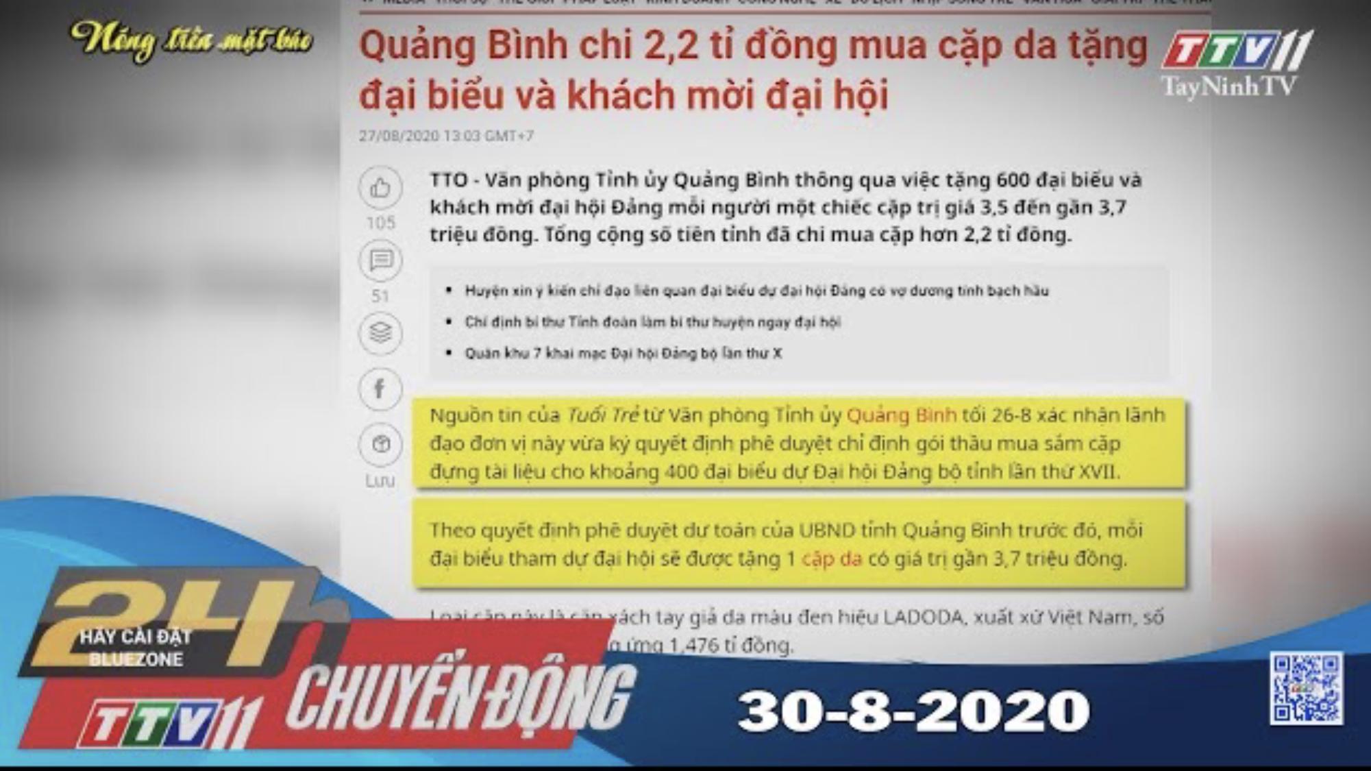 24h Chuyển động 30-8-2020 | Tin tức hôm nay | TayNinhTV
