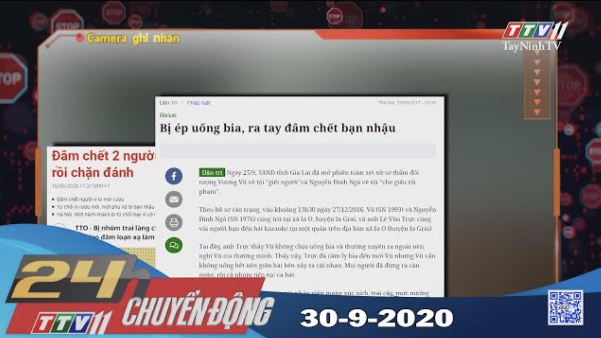 24h Chuyển động 30-9-2020 | Tin tức hôm nay | TayNinhTV