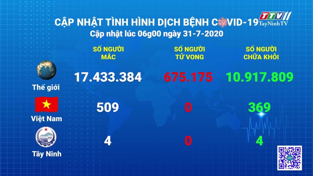 Cập nhật tình hình Covid-19 vào lúc 06 giờ 31-7-2020 | Thông tin dịch Covid-19 | TayNinhTV