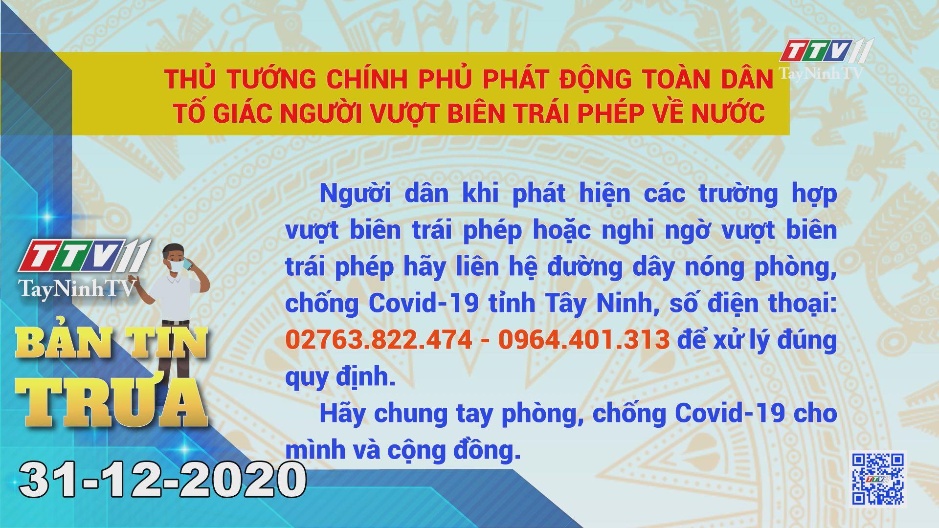 Bản tin trưa 31-12-2020 | Tin tức hôm nay | TayNinhTV